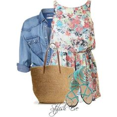 I picked this outfit because its so cute and simple and perfect for the summer and if yure going to the beach