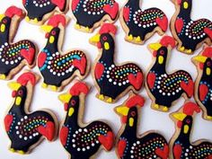 The most amazing cookies i have ever seen! galo de barcelos