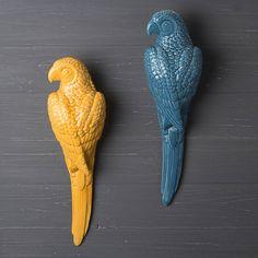 ceramic parrot wall art by the contemporary home | notonthehighstreet.com