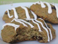 Zucchini cookies with lemon cream cheese icing #glutenfree #recipe #sugarfree