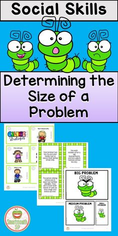Social skills activities to teach emotional regulation, size of a problem and calming strategies with a spring theme!