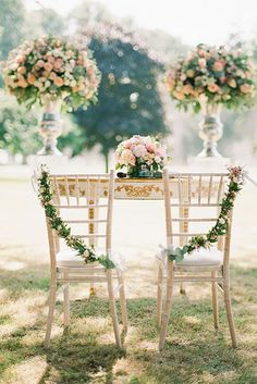 Sweet heart table adorned with beautiful blooms and greenery