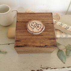 Rustic Birch Tree Slice Wood Ring Bearer Box by AllLavenderandLove