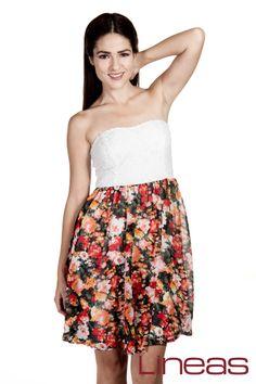 Vestido, Modelo 18173. Precio $200 MXN #Lineas #outfit #moda #tendencias #2014 #ropa #prendas #estilo #primavera #outfit #vestido