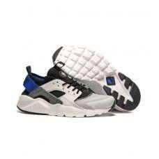 brand new a90a7 f8ae6 Buy Nike Air Huarache Mens Running Shoes White Black Blue 0339
