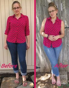 Pink Polka Top - Before & After by nosmallfeet, via Flickr