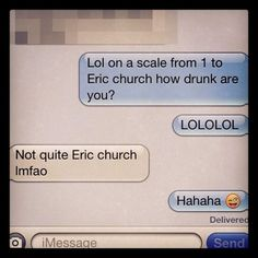 This is Great!!! hahaha only real Eric Church fans would understand! @Kendalllawson lol