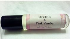 Orchid & Pink Amber  Roll-On Perfume Oil  by BlueLotusArtisanSoap