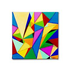Abstract Acrylic Painting  Original Geometric by hjmArtGallery