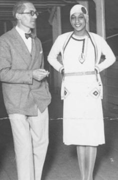 Legend has it that Josephine Baker (1906-1975) and Le Corbusier (1887-1965) met in Rio de Janeiro in 1929. The first major African American  star of  show business would have had great conversations with the Franco-Swiss architect who undertook two trips to Latin America in the 1920s and 1930s which greatly influenced his work and also the Brazilian architecture.