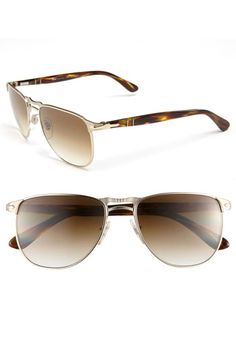 Persol Retro Double Bridge Sunglasses available at #Nordstrom