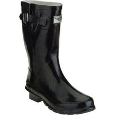 Forever Young Women's Classic Short Rain Boot, Size: 6, Black