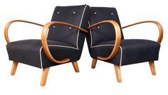 Pair of Jindrich Halabala Bentwood Chairs c.1940