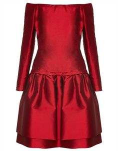 1980s Victor Edelstein Crimson Couture Dress Size 10-12
