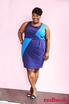 Birmingham fashion blogger Jeniese Hosey on Redbook magazine September 2015 cover as Real Women Style Award winner. Hosey, a public relations coordinator, encouraged women to embrace voluminous styles and pair midi skirts with crop tops.