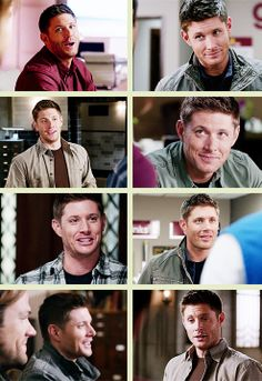 *REPINNING with a gifset url :D [GIFSET] Happy Dean, Season 9 - there were moments...