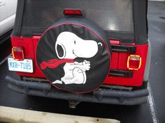 I think I ned a Jeep!!! Spare Tire Cover Snoopy by lxmboutique on Etsy