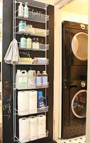 Door rack from home depot ~$37. My Sweet Savannah: ~laundry room organization~