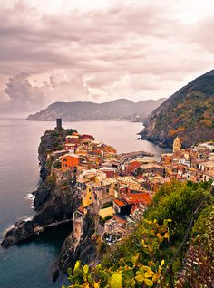 Peninsula, Vernazza, Cinque Terre, Italy | from @GuessQuest collection