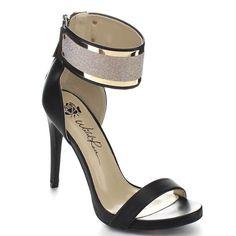 FIT Wild Rose CARA22 Women's Ankle Strap Back Zipper Stiletto Heel