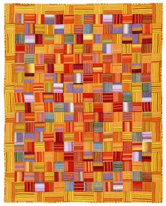 Bright stripes Kaffe Fassett quilt from his book