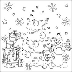 Coloring by Numbers: Painting by Numbers: Xmas tree free ausdru . Christmas Worksheets, Christmas Math, Christmas Tree Themes, Christmas Activities, Christmas Pictures, Christmas Colors, Xmas Tree, Christmas Crafts, Free Printable Coloring Pages