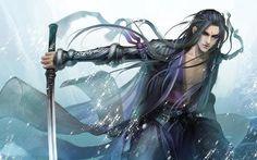 Imagem de sword, art, and long hair