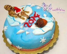 """ice age - Christmas Scrat"" cake"