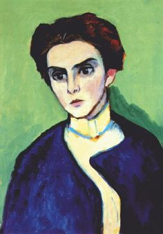 Portrait of Olga Hartmann, by Gabriele Münter (German, 1877–1962)