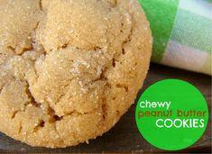 Chewy Peanut Butter Cookies Recipe - (familyfeedbag)