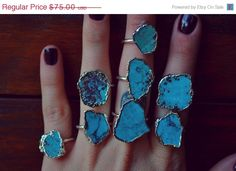 ON SALE LUX Divine /// Turquoise and Silver /// by luxdivine, $63.75