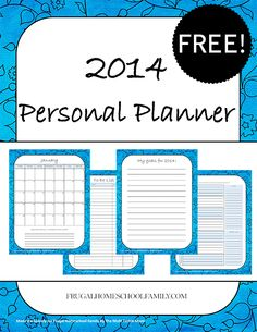 Exclusive Freebie: 2014 Personal Planner {monthly calendars, weekly planner, to do lists, prayer lists, reading lists and MORE} - Frugal Homeschool Family