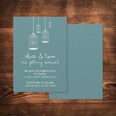 birdcage wedding invitation by paperhappy | notonthehighstreet.com