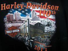Men's Harley-Davidson Black 110th Anniversary T-Shirt XL Milwaukee Bikers 2013 #HarleyDavidson #GraphicTee