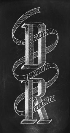 Daniel Richards Chalk Lettering  via betype.co #typography