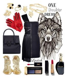 """Wild wolf 💋"" by huxmay ❤ liked on Polyvore featuring Ginette NY, Versace, KOTUR, Roberto Cavalli, David Yurman, Joomi Lim, Gizelle Renee, Kendra Scott, Guerlain and Yves Saint Laurent"