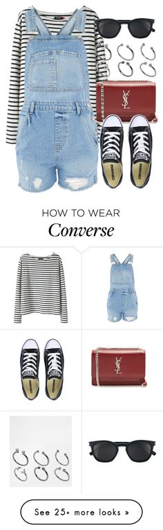 """Sin título #13171"" by vany-alvarado on Polyvore featuring Wood Wood, Topshop, Yves Saint Laurent, Converse and ASOS"