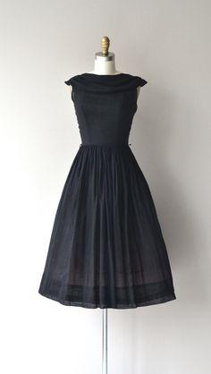 82452c43aa4f Andela dress vintage 1950s dress black cotton 50s by DearGolden Vintage  1950s Dresses, Vintage Wear