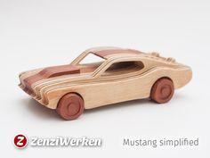 1969+Mustang++simplified+cnc/laser+by+ZenziWerken.