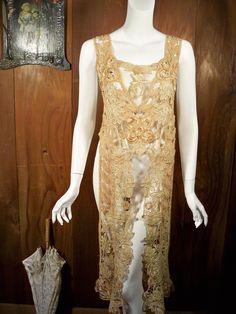 Upcycled Edwardian silk battenburg lace tunic