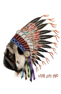 Dark Lord Pug - pug art, pug shirts, pug clothing, pug decor, pug roc