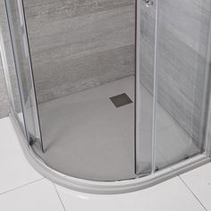 Bring a natural feel to your bathroom with the Milano light grey slate effect quadrant shower tray Quadrant Shower, Grey Slate, Shower Enclosure, Tray, Bathroom, Natural, Washroom, Full Bath, Trays