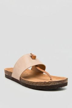 Lynx Two-Tone Thong Footbed