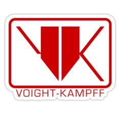 Blade Runner - Voight-Kampff logo red