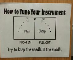 A guide to the tuner for my elementary school band students.