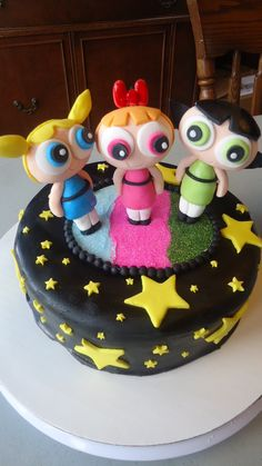Awesomely Cute Power Puff Girls Cake me luv this