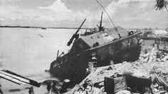 Battle of Tarawa. A ship that was beached during this war.