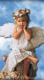 """Poor little guardian angel! Looks like she's sayin """"Oh boy, how'm I sposta fix dat one? Santa Baby, Entertaining Angels, Angels In Heaven, Heavenly Angels, I Believe In Angels, Your Guardian Angel, Angels Among Us, Angel Pictures, Deviant Art"""