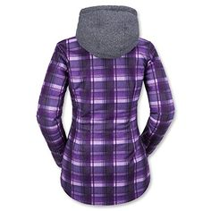 Volcom Juniors Circle Flannel Hooded Fleece Snow Jacket Purple Medium >>> You can find out more details at the link of the image. #WomensOutdoorClothing
