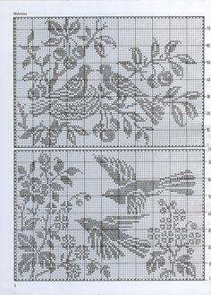 Great pillows with birds Crochet Butterfly, Crochet Birds, Crochet Cross, Crochet Home, Thread Crochet, Crochet Motif, Crochet Stitches, Crochet Patterns, Cross Stitch Bird